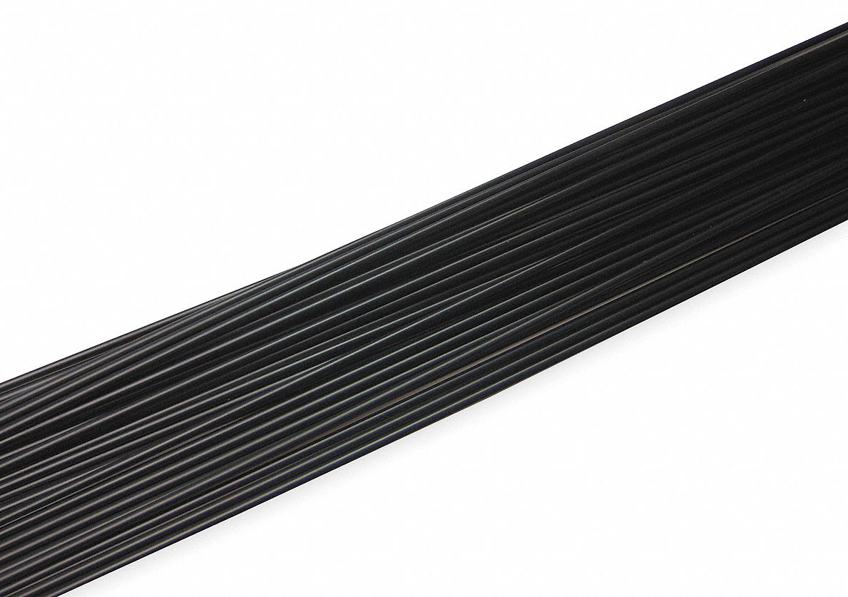 Welding Rod, ABS, 3/16 In, Black, PK23