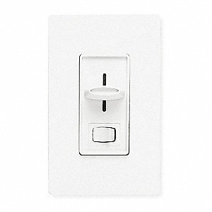 Lighting Dimmer,Slide,3-Way,Rocker,White