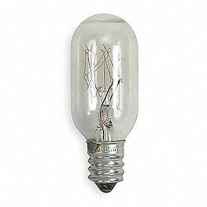 15.0 Watts Incandescent Lamp, T7, Candelabra Screw (E12), 108 Lumens, 2700K Bulb Color Temp.