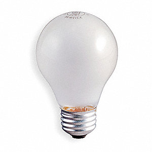 50 Watts Incandescent Lamp, A19, Medium Screw (E26), 545 Lumens, 2700K Bulb Color Temp., 1 EA