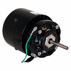 1/40 HP Unit Bearing Motor, Shaded Pole, 1550 Nameplate RPM,208-230 Voltage, Frame 4.0