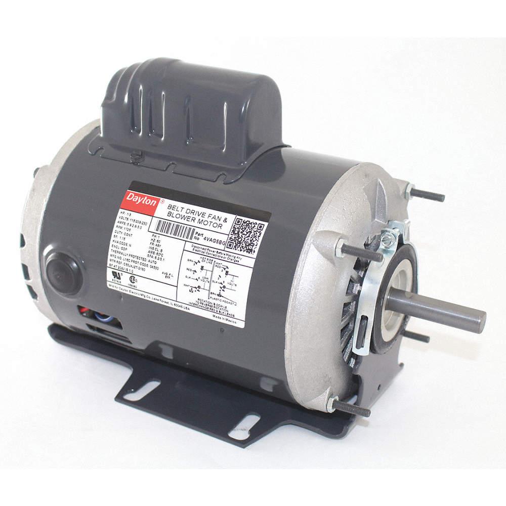 1/3 HP Belt Drive Motor, Capacitor-Start, 1725 Nameplate RPM, 115/208-230 Dayton Electric Motor Capacitor Wiring Diagram on