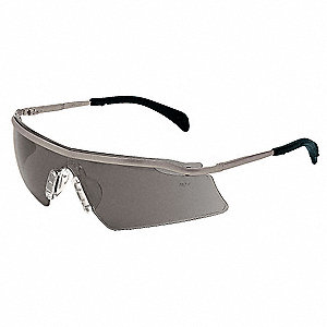 Persuader  Metal Scratch-Resistant Safety Glasses, Gray Lens Color
