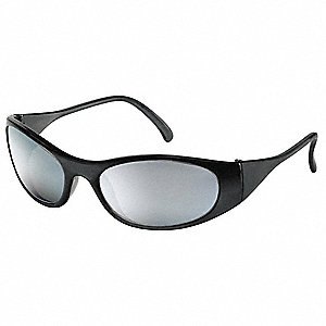 Freeze  Scratch-Resistant Safety Glasses, Silver Mirror Lens Color