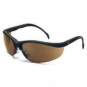 Nome  Scratch-Resistant Safety Glasses, Brown Lens Color