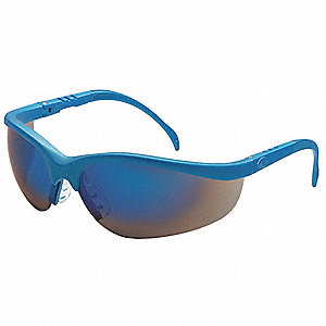 Nome™ Scratch-Resistant Safety Glasses, Blue Mirror Lens Color