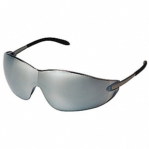 Winger  Scratch-Resistant Safety Glasses, Silver Mirror Lens Color