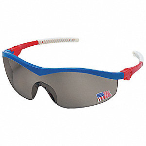 Thunder  Scratch-Resistant Safety Glasses, Gray Lens Color