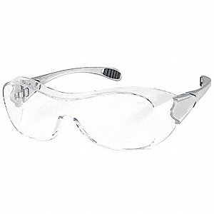 Oxulux  OTG Anti-Fog, Scratch-Resistant Safety Glasses, Clear Lens Color