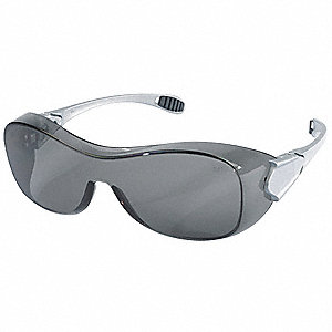 Oxulux™ OTG Anti-Fog, Scratch-Resistant Safety Glasses, Gray Lens Color