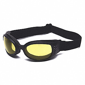 Scratch-Resistant Direct Impact Resistant Goggles, Amber Lens