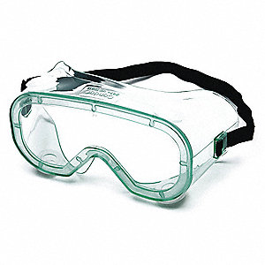 Anti-Fog, Scratch-Resistant Chemical Splash Goggles, Clear Lens Color