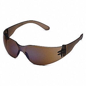 Condor  V Scratch-Resistant Safety Glasses, Blue Mirror Lens Color