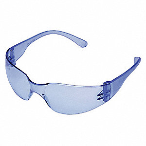 Condor  Mini V Scratch-Resistant Safety Glasses, Light Blue Lens Color