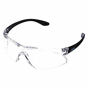 Brooklyn  Scratch-Resistant Safety Glasses, Clear Lens Color