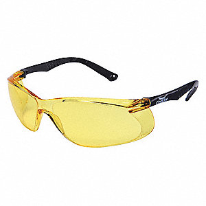 Jbird  Scratch-Resistant Safety Glasses, Amber Lens Color