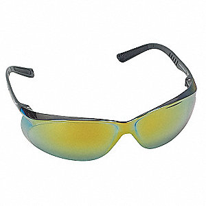 Jbird  Scratch-Resistant Safety Glasses, Red Mirror Lens Color