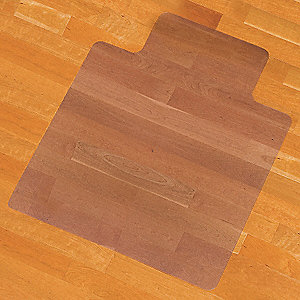 Traditional Lip Chair Mat, Clear, For Laminate, Wood, Tile, Concrete and other Hard Surfaces