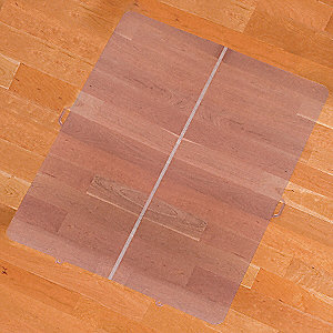 Folding Rectangle Chair Mat, Clear, For Laminate, Wood, Tile, Concrete and other Hard Surfaces