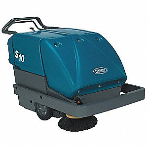 Battery Powered Sweeper,Walk Behind,34In