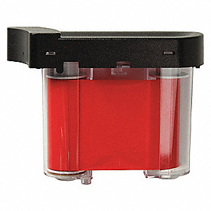 Ribbon Cartridge,Red,2 In. W,75 ft. L