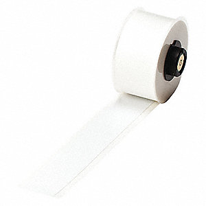 "White Vinyl Film Label Tape Cartridge, Indoor/Outdoor Label Type, 50 ft. Length, 1"" Width"