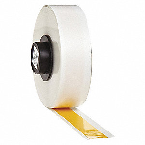 "Indoor/Outdoor Vinyl Film Label Tape Cartridge, Yellow, 1/2""W x 50 ft."