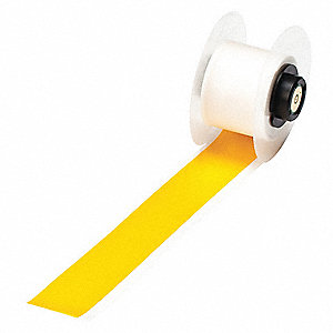"Yellow Vinyl Film Label Tape Cartridge, Indoor/Outdoor Label Type, 50 ft. Length, 1"" Width"