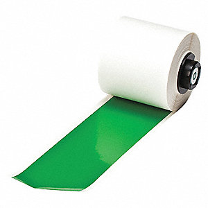 "Indoor/Outdoor Vinyl Film Label Tape Cartridge, Green, 2""W x 50 ft."