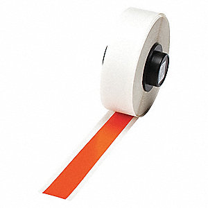 "Indoor/Outdoor Vinyl Film Label Tape Cartridge, Orange, 1/2""W x 50 ft."