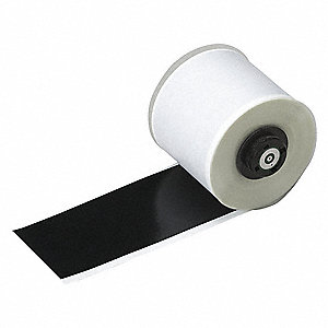 "Black Vinyl Film Label Tape Cartridge, Indoor/Outdoor Label Type, 50 ft. Length, 2"" Width"