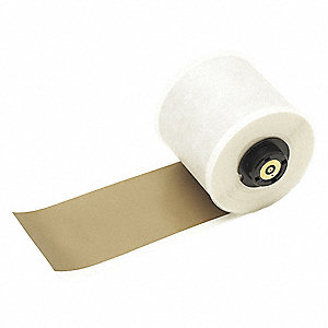 "Indoor/Outdoor Vinyl Film Label Tape Cartridge, Gold, 2""W x 50 ft."