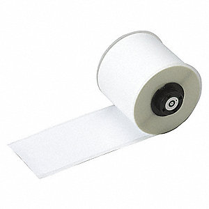 "White Vinyl Film Label Tape Cartridge, Indoor Label Type, 50 ft. Length, 2"" Width"