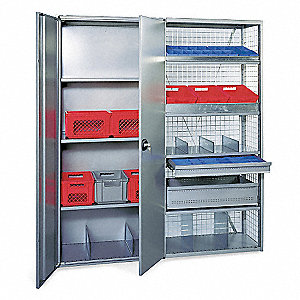 "36"" x 18"" x 85-1/2"" Starter Steel Shelving Unit, Gray"