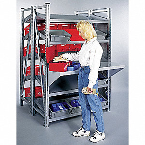 "Add-On Boltless Shelving with Steel Decking, 5 Shelves, 48""W x 48""D x 78-1/2""H"