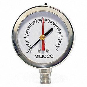 "2-1/2"" General Purpose Pressure Gauge, 0 to 100 psi"