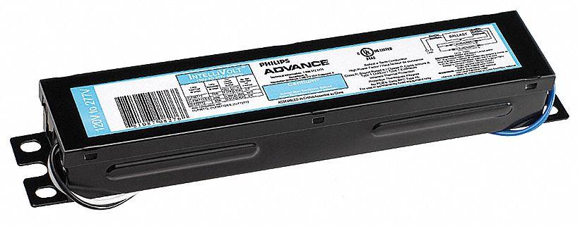 advance electronic ballast, 110 max  lamp watts, 120-277 v, rapid start, no  dimming - 4vmy7|icn-2s110-sc - grainger