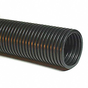 25 ft. Specially Modified Polyamide 12 Corrugated Tubing, Self Extinguishing, Black