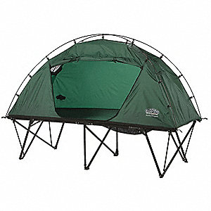 "84"" x 32"" Extra Large Tent Cot w/Rain Fly with 350 lb. Weight Capacity; Green"