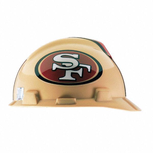 Msa V Gard San Francisco 49ers Front Brim Nfl Hard Hat