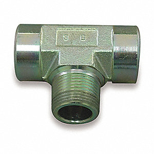 Male NPT to Female NPT Tee Hydraulic Hose Adapter