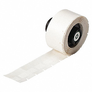 "White on Translucent, 500 Labels per Roll  3/4"" H x 1/2"" W, 500 PK"