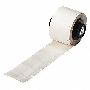 "White on Translucent, 250 Labels per Roll  1"" H x 3/4"" W, 250 PK"
