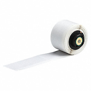 "White on Translucent, 100 Labels per Roll  2-1/2"" H x 1"" W, 100 PK"