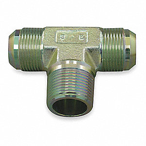 Male NPT to Male JIC Tee Hydraulic Hose Adapter