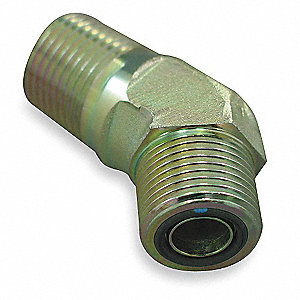 Male ORS to Male NPT 45 Degree Elbow Hydraulic Hose Adapter