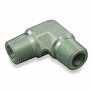 Male NPT to Male NPT 90 Degree Elbow Hydraulic Hose Adapter