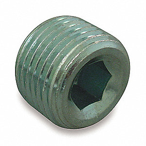Male NPT Hex Socket Plug Hydraulic Hose Adapter