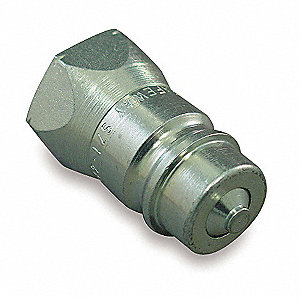 "3/4""-14 Steel Hydraulic Coupler Nipple, 1/2"" Body Size"