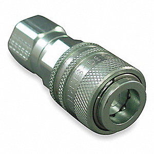 "7/16""-20 Steel Hydraulic Coupler Body"